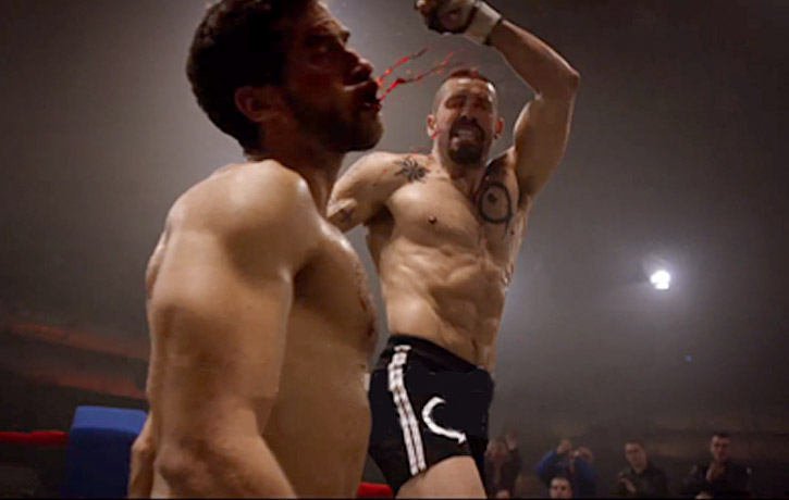 Viktor fights valiantly, but cannot overcome Boyka's might