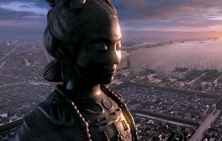 A 200 foot Buddha is involved