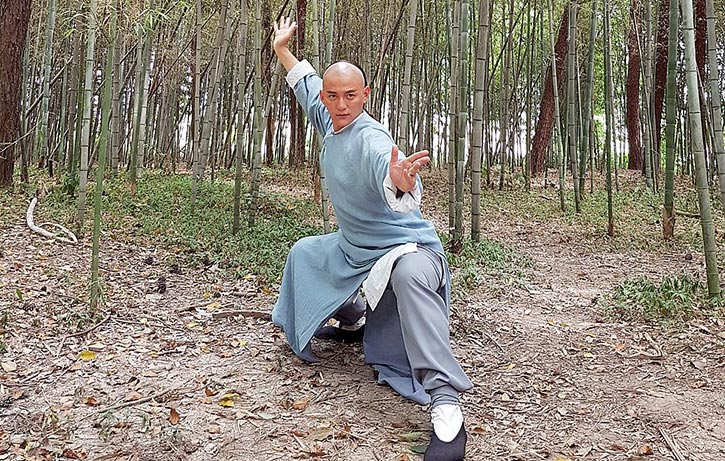 Real life Chinese martial arts coach Sun Hao-Ran stars as Wong Kei-Ying