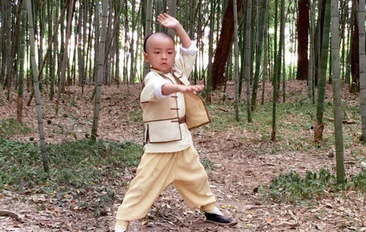 Young actor Li Le-tian as Wong Fei-hung