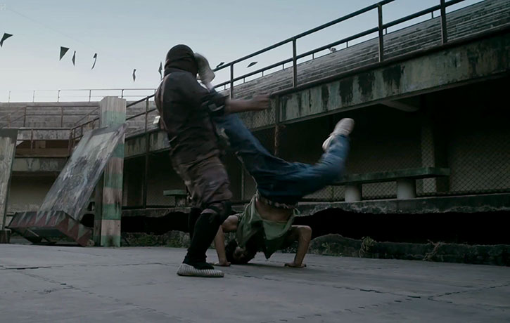 Who knew that breakdancing could be a weapon