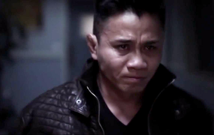An emotional scene from Cung Le's film Puncture Wounds