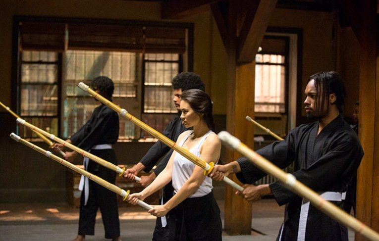 Colleen takes her students through the basics of Kenjutsu