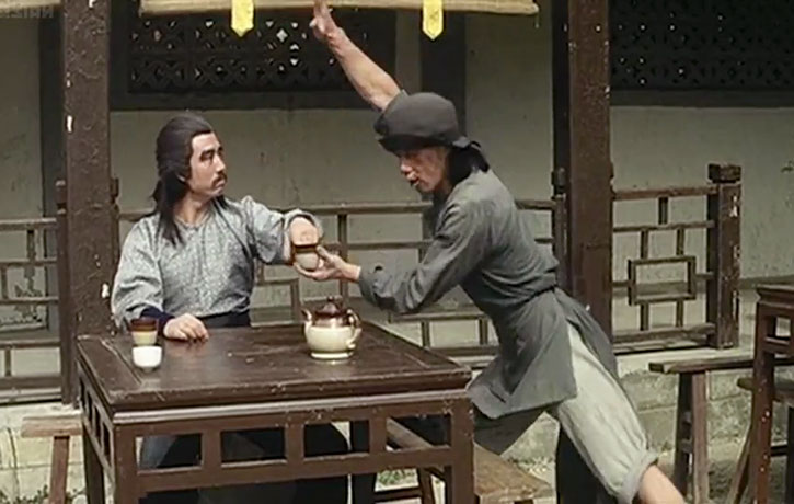 Serving tea often meant fight time!