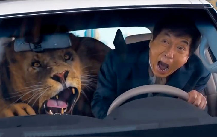 A live action Jackie Chan cartoon!
