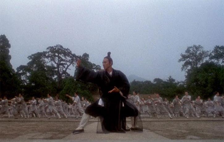 Jet Li leads the Tai Chi Form