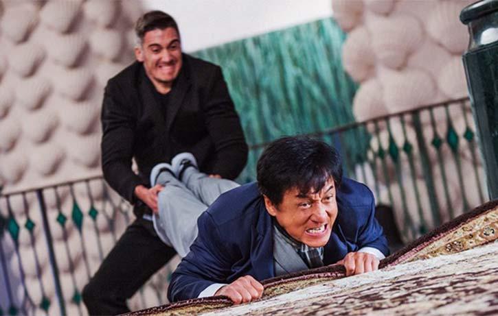 Kung Fu Karpet -Jackie up to his old tricks!
