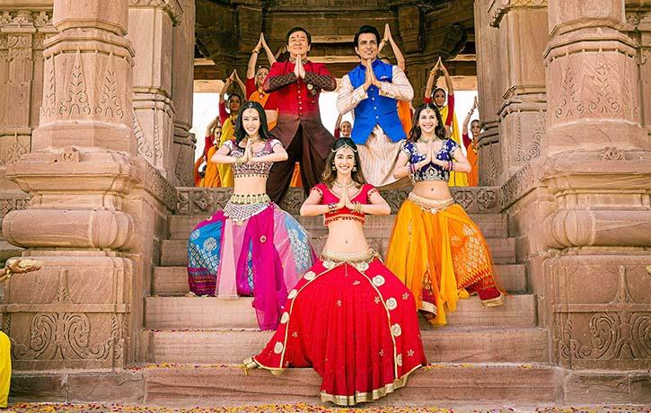 Namaste from Jackie and cast on Kung Fu Yoga!