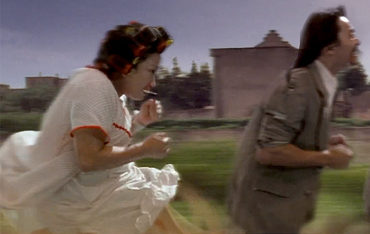 The Landlady gives pursuit in a memorable chase scene
