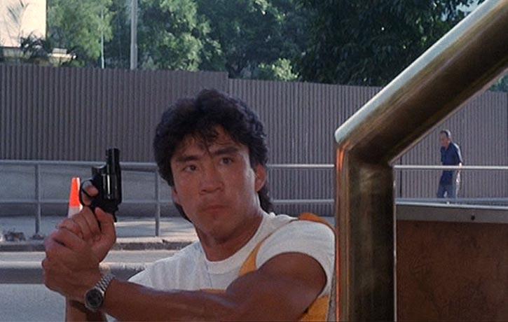 Conan Lee stars as tough rookie cop Michael Tso