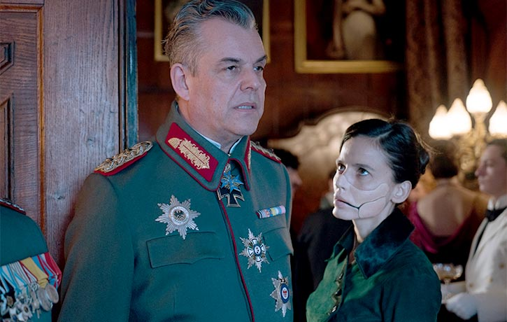 General Ludendorff and Doctor Poison prepare to hatch their diabolical plot