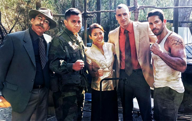 Marko and co stars on the set of Savage Dog