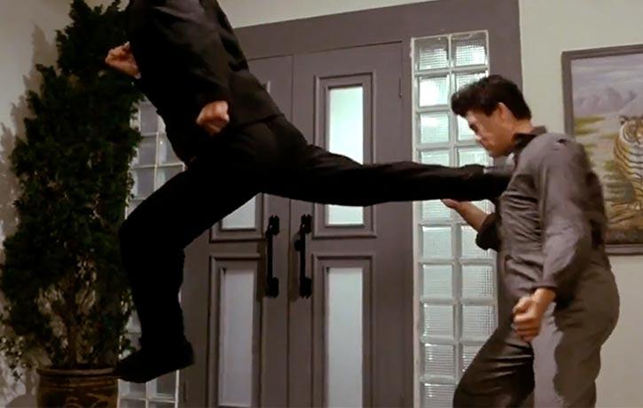 Chow's jump back kick