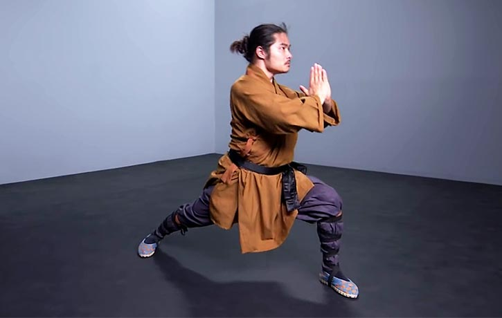 Shifu Wang takes us through the stances of kung fu