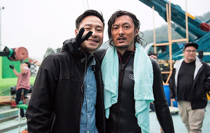 Behind the Scenes director Jonathan Li with Shawn Yue
