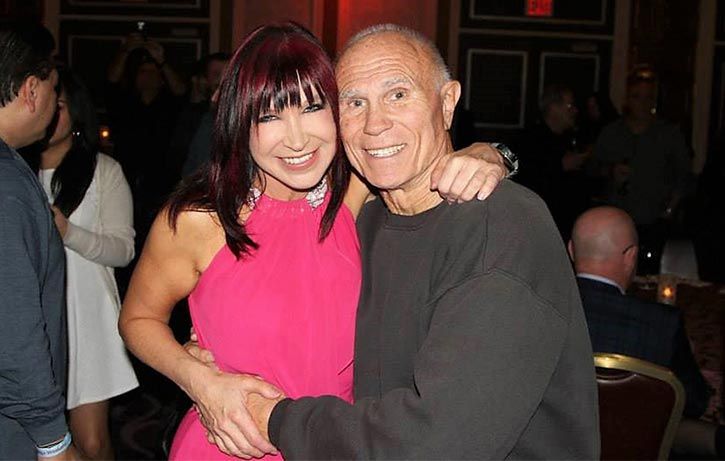 Bill with another martial legend, Cynthia Rotchrock