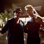 Alain with Jean-Claude Van Damme on the set of Kickboxer Retaliation