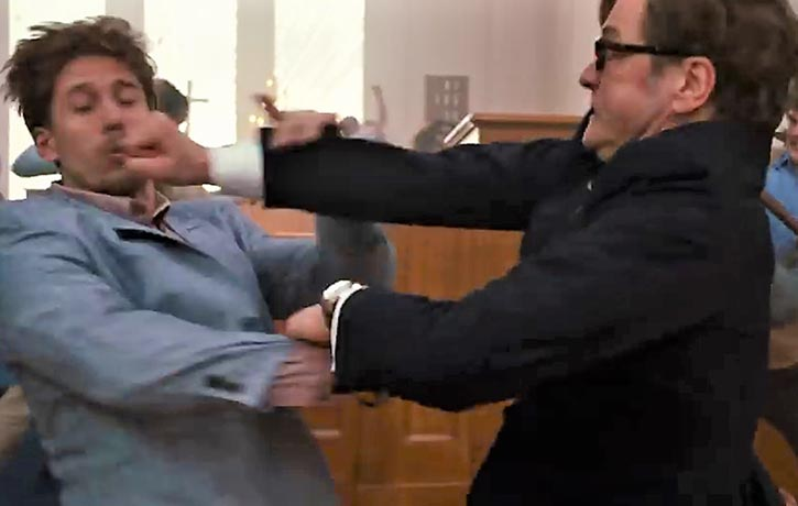 Harry deflects his attacker's strike