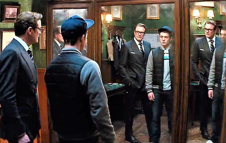 Harry introduces Eggsy to the world of Kingsman