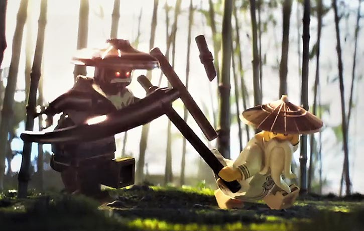 Master Wu vs Lord Garmadon