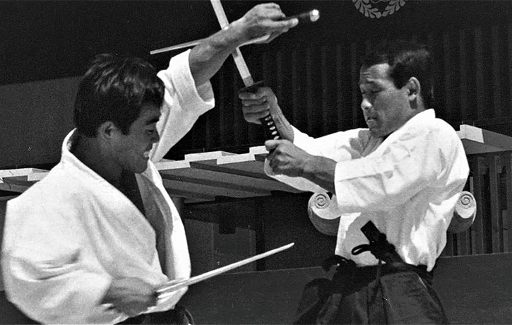 Sensei Demura showing how to use Sai against a katana