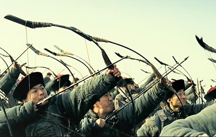 Archers rain down arrows