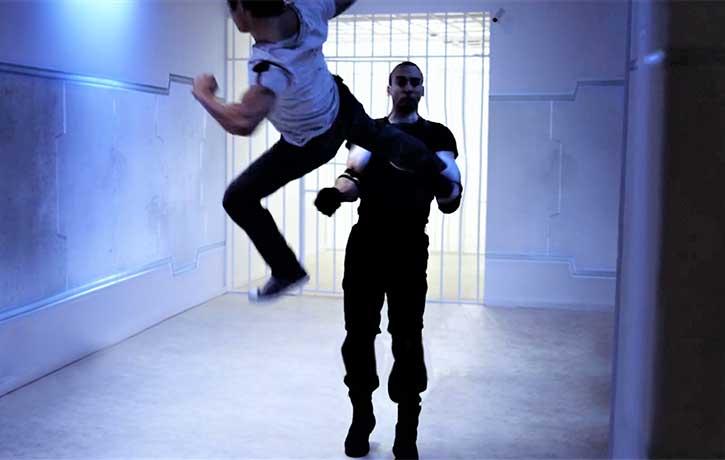Epic flying kick