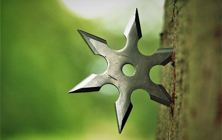 Getting to the point with a Shuriken