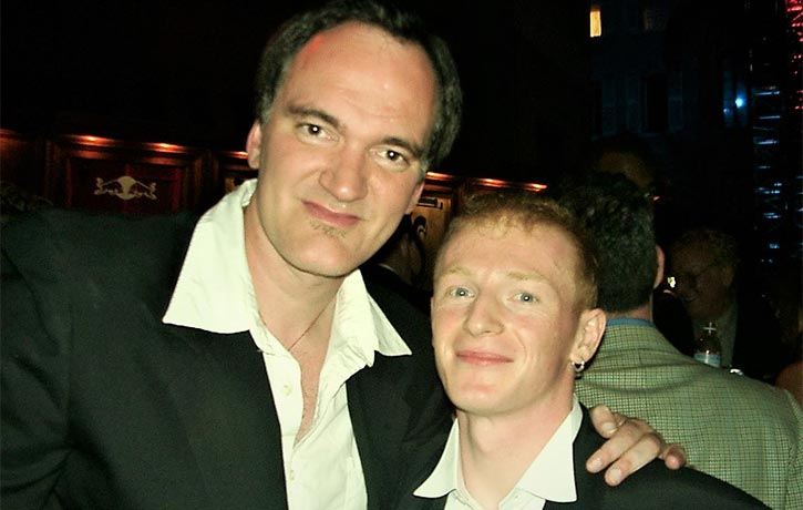 Mike with legendary director Quentin Tarantino