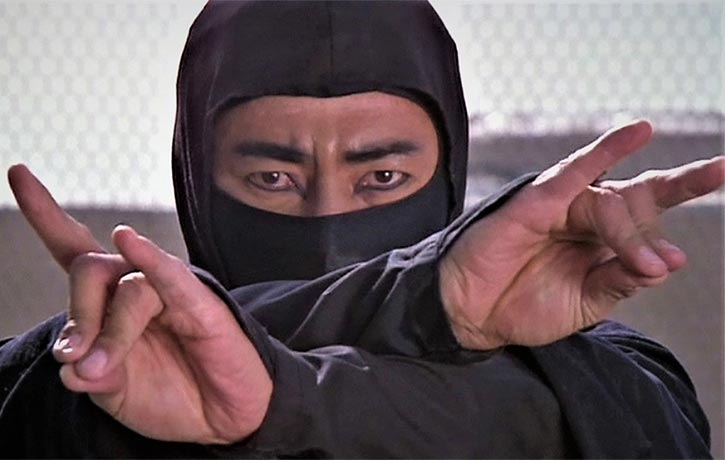 Ninja invoking one of the 9 symbols of power