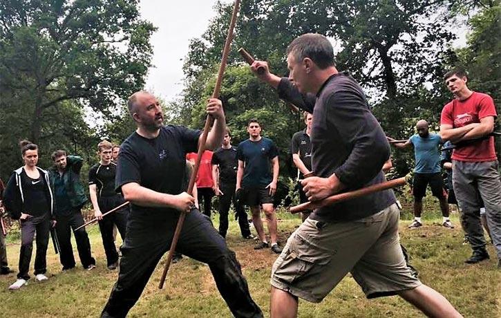 Teaching weapons at DKK's Summer School