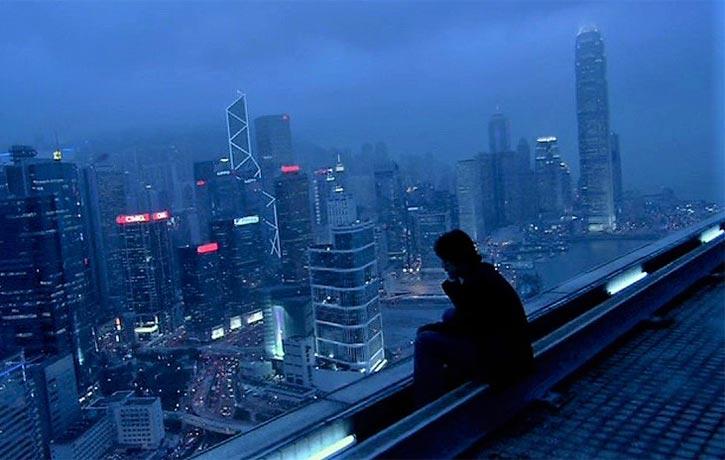 A moody Hong Kong skyline