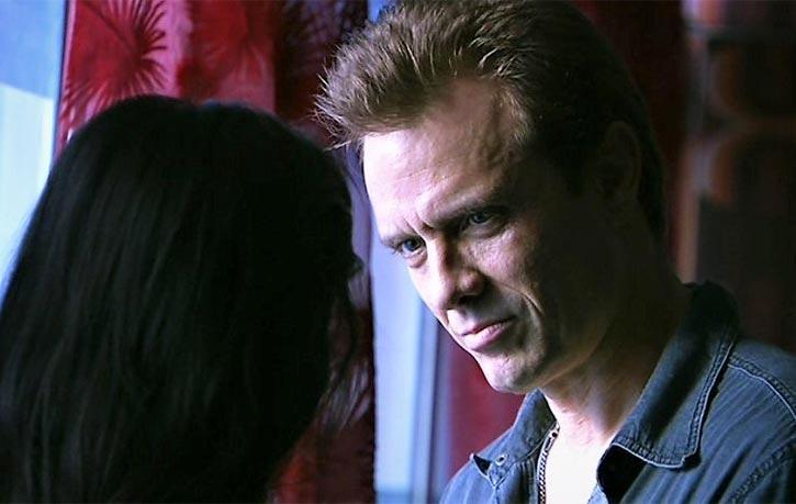 Aliens and Terminator star Michael Biehn as Petros Angelo