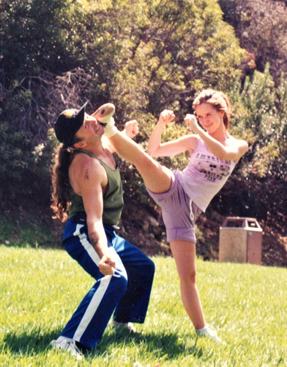 Dave & Jennifer (Love) Hewitt training for the Heartbreakers movie