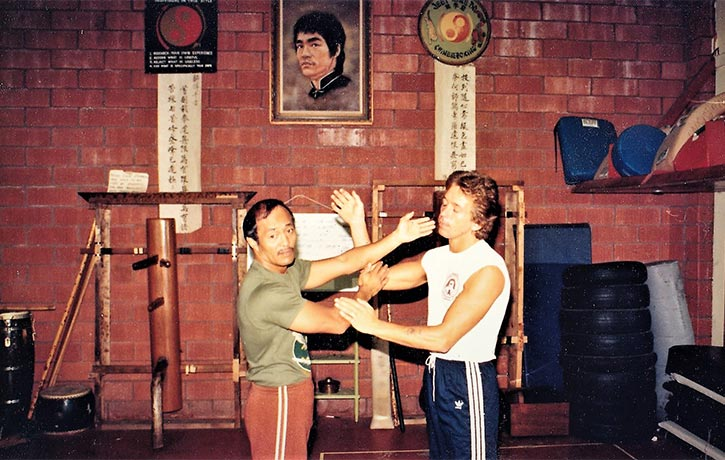 Dave training 'Sticky Hands' with Dan Inosanto
