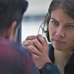 Lauren Cohan offers some moral support in Mile 22