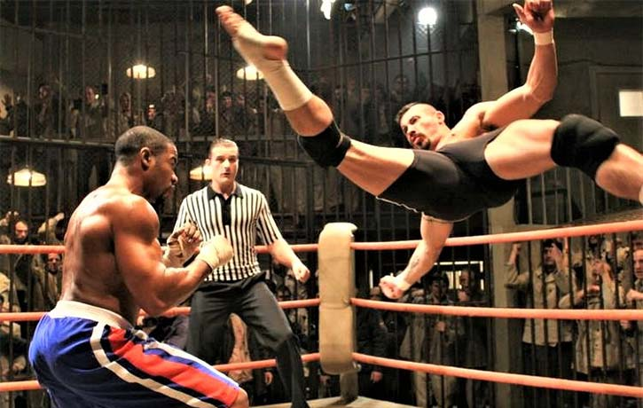 Mike in a showstopping duel with Scott Adkins in Undisputed 2