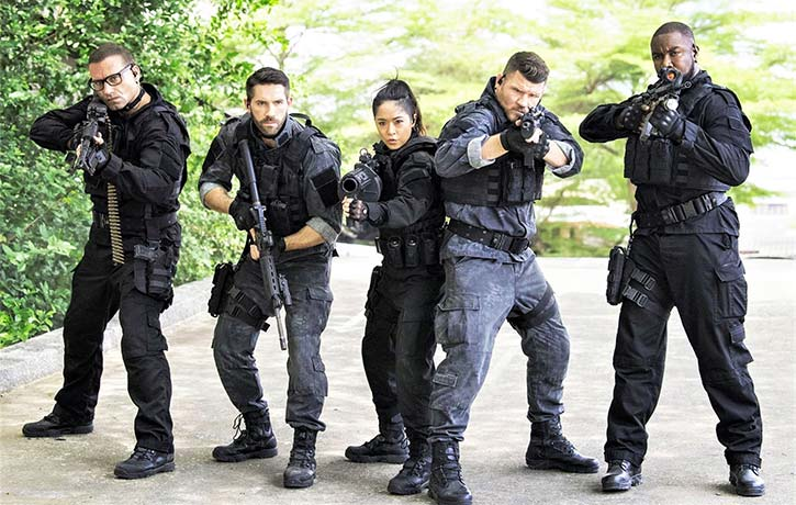Mike on the set of Triple Threat with Ron Smoorenburg, Scott Adkins, Jeeja Yanin, and Michael Bisping