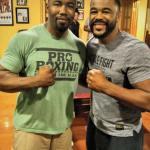 Mike with UFC fighter Rashad Evans