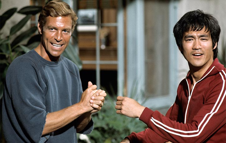Bruce Lee with James Franciscus - Credit ABC-Getty Images