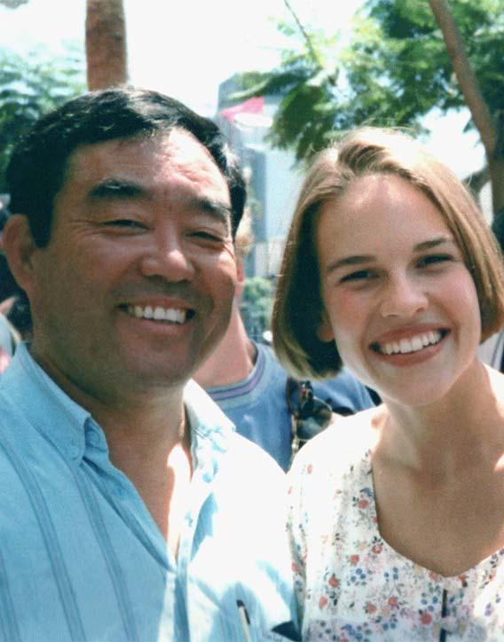 Fumio with Hilary Swank