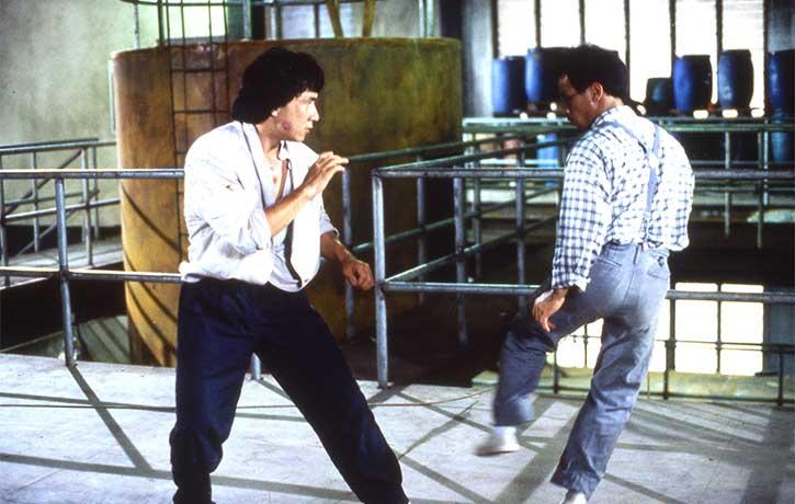 Lai's kicking skills easily equal Jackie's