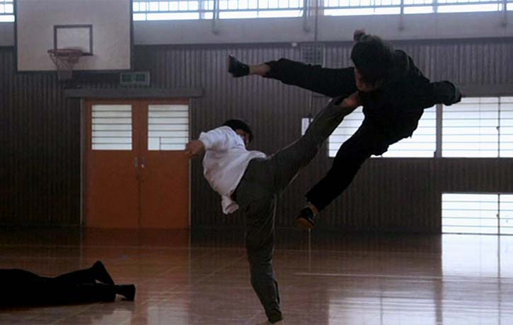 Sensei Matsumura stops an aerial attack dead in its tracks