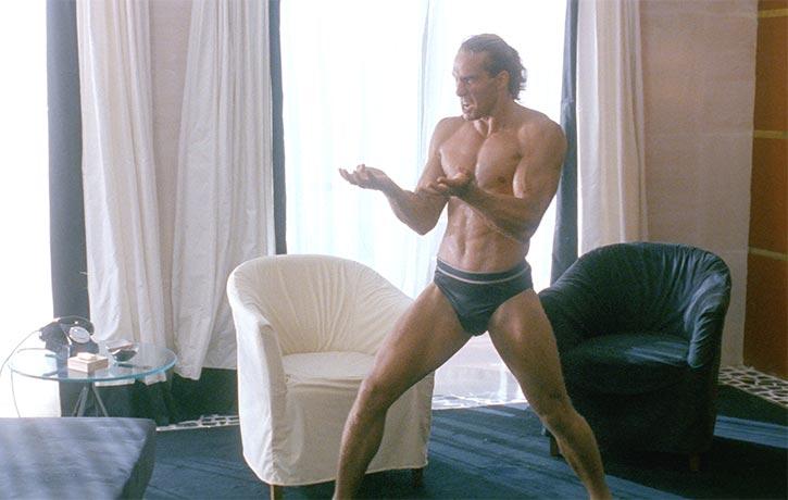 A muscular Gary Daniels has an impressive intro