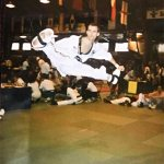 Garrett during his days competing in TKD!