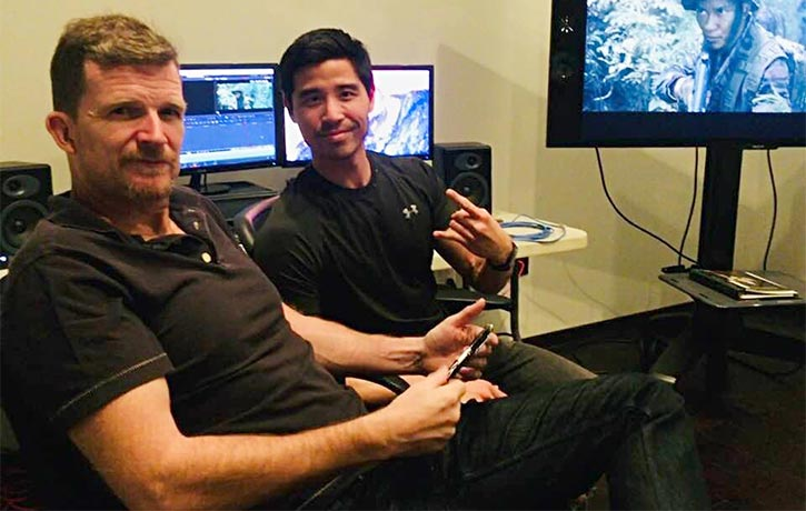 Jesse oversees post-production of Triple Threat
