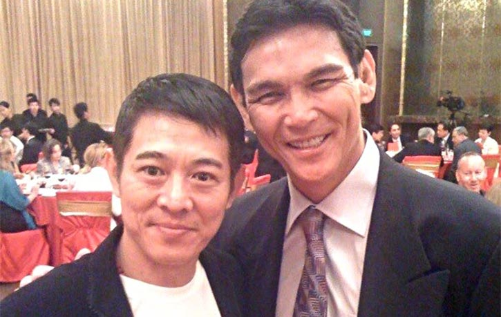 Don alongside wushu master Jet Li!