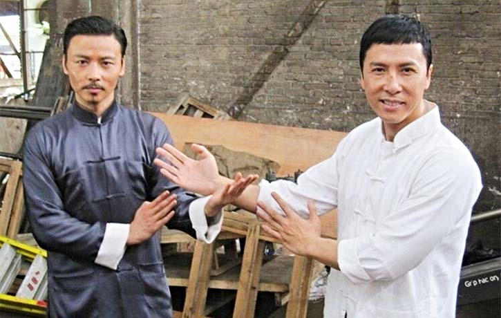 Max with Donnie Yen on the set of Ip Man 3