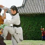 As Yun Fei fights the bodyguards a young Yuen Wah looks on!