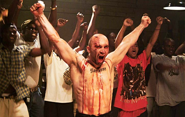 Dom stands triumphant in the ring in 2005's Pit Fighter